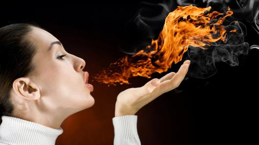 огонь изо рта во время изжоги
