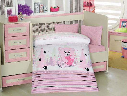 постельное белье для новорожденных  на кроватке