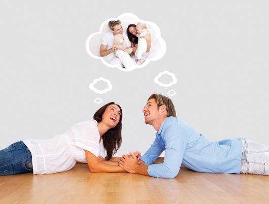 молодая пара планирует детей