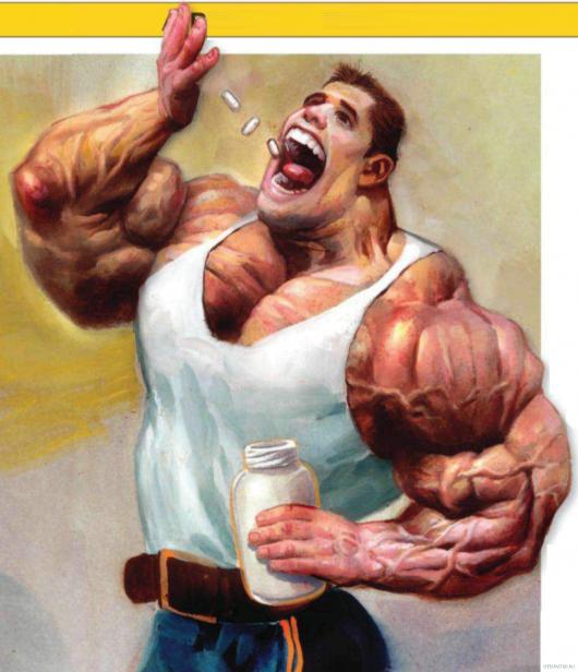 качок употребляет стероиды