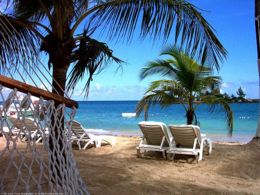 солнце море пляж пальмы