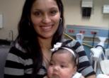 Мать спасла жизнь трехмесячной дочери