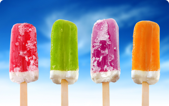 разноцветное мороженое