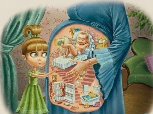 Как дети представляют себе беременность